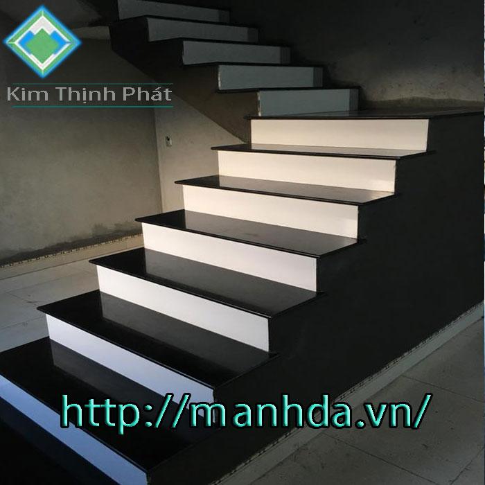 đá hoa cương cầu thang nhà phố